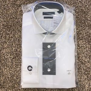 Slim Fit Calvin Klein White Slim Dress Shirt